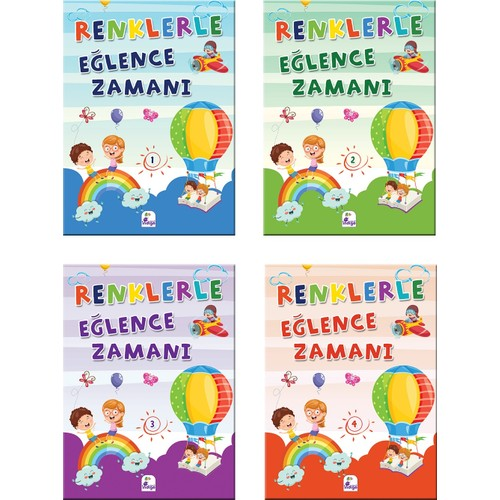 Renklerle Eğlence Zamanı Kitap Set (4 Kitap Takım Renkli Boyama)