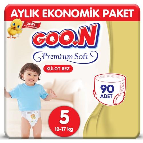 Goon Premium Soft Külot Bez 5 Beden Aylık Ekonomik Paket 90 Adet