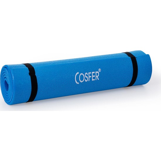 Cosfer 6,5 mm Pilates Minderi Yoga Matı Mavi
