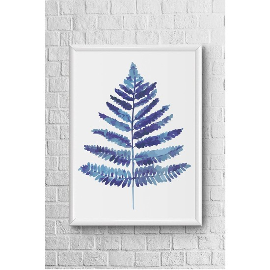 Lyn Home Mavi Laci 1 Çerçeveli Poster Tablo 23,5 x 33,5 cm