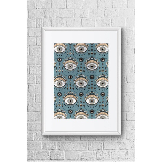 Lyn Home Gözler Çerçeveli Poster Tablo 23,5 x 33,5 cm