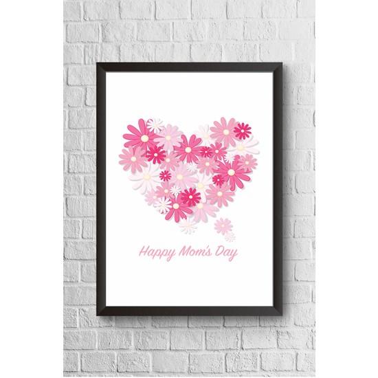 Lyn Home Happy Mom'S Day Çerçeveli Poster Tablo 23,5 x 33,5 cm