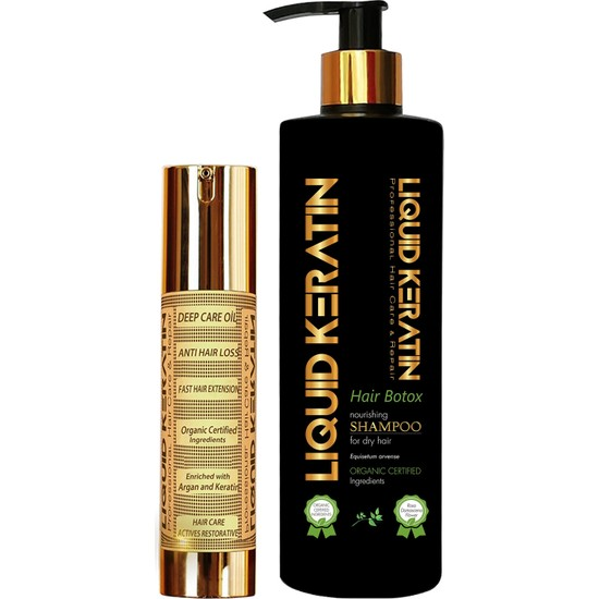 Liquid Keratin Saç Uzatmaya Yardımcı Seti Mini