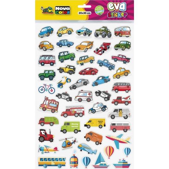 Nova Color 20 x 30cm Taşıtlar Eva Sticker