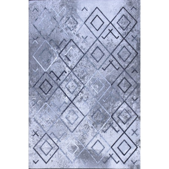 Halı Special Gri Baklava Desen Modern Kilim - HS8804