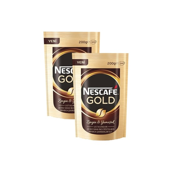 Nescafe Gold Poset 200 Gr x 2 Adet