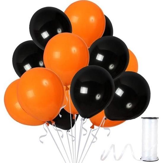 Kullan At Party Turuncu-Siyah Metalik Sedefli Balon