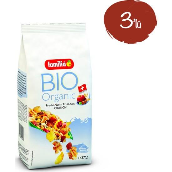 Familia Bio Organik Meyveli Yemişli Müsli 375 G x 3 Paket