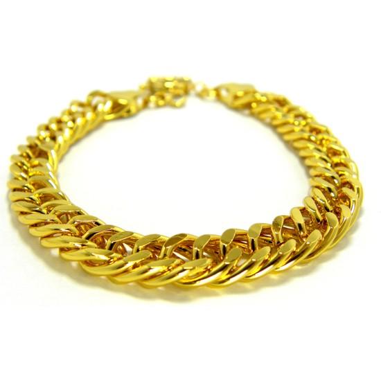 Bijuta Altın Kaplama Künye Bileklik