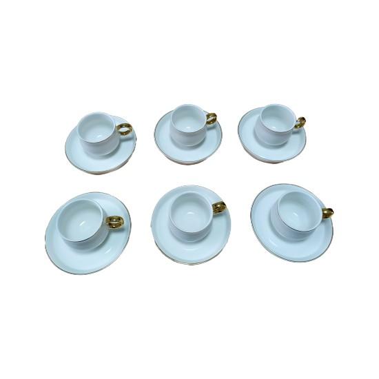 Acar Plus 6'lı Gold Kulplu Kahve Fincan Takımı