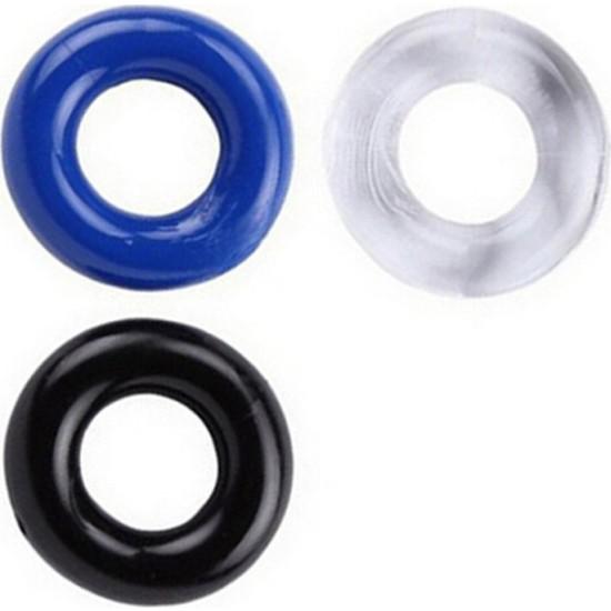 X-Men Yumuşak Silikondan 3 Farklı Renkte Süper Esnek Penis Halkası Ring