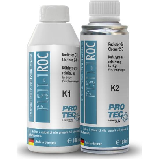 Protec Radyatör İçi Yağ Temizleyici (K1+K2) 376 ml