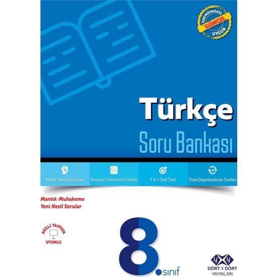Dört Çarpı Dört Yayınevi 8.Sınıf Türkçe Soru Bankası