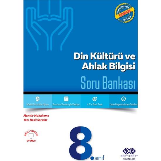 Dört Çarpı Dört Yayınevi 8.Sınıf Din Kültürü Ahlak Bilgisi Soru Bankası