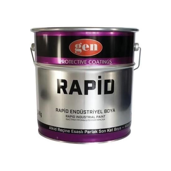 Gen Rapid Endüstriyel Boya Mat Siyah 3 kg