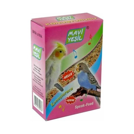 Mavi Yeşil Muhabbet Kuşu Konuşturucu Yem 200 gr
