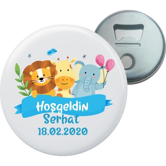 Grafilli Design Hoşgeldin Bebek Kişiye Özel Magnet Açacak 10 Adet - 0019