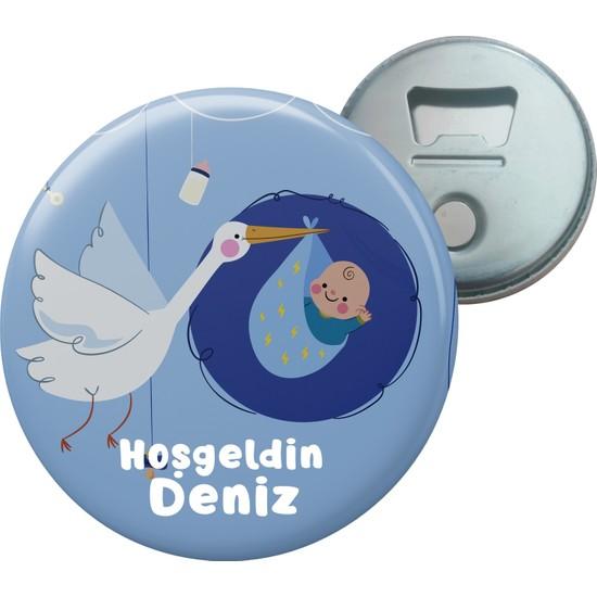 Grafilli Design Hoşgeldin Bebek Kişiye Özel Magnet Açacak 10 Adet - 0018