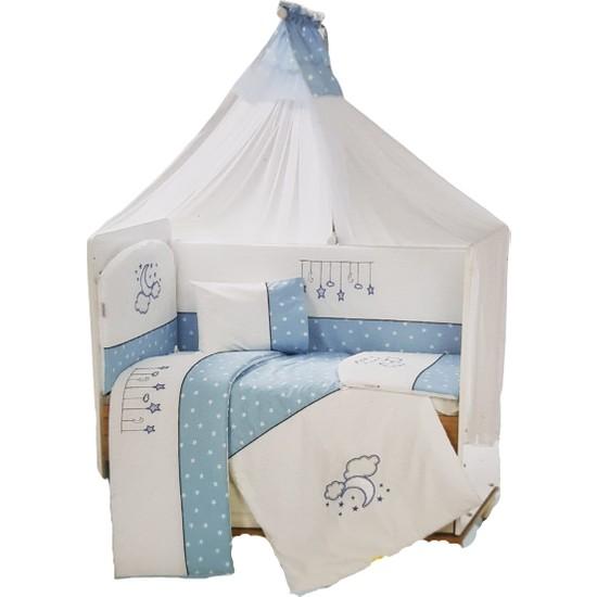 Aras Bebe Beşik Yıldızlı Uyku Seti 60 x 120 cm - Mavi