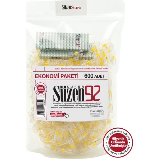 Süzen92 600 Lük Sigara Filtresi Ağızlık Fırsat Paketi - 2 Adet 10 lu Taşıma Kutusu
