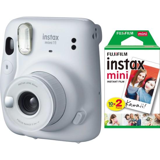 Fujifilm Instax Mini 11 Beyaz Fotoğraf Makinesi 20'li Film