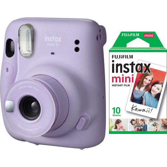 Fujifilm Instax Mini 11 Lila Fotoğraf Makinesi 10'lu Film