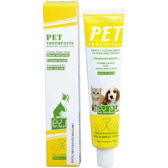 For Your Pets Biftek Aromalı Pet Diş Macunu 75 gr