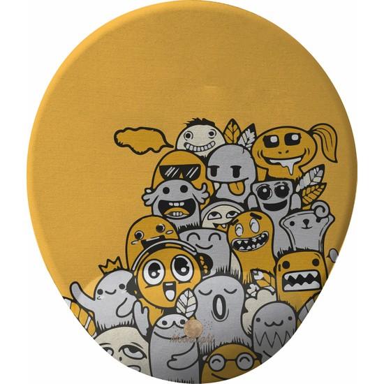 GameBoss Yellow Happy Bilek Destekli Tasarım Mouse Pad