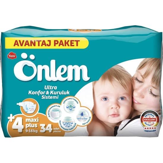 Önlem Bebek Bezi Yeni 4 Numara Maxi Paket 34'lü 9 - 16 kg