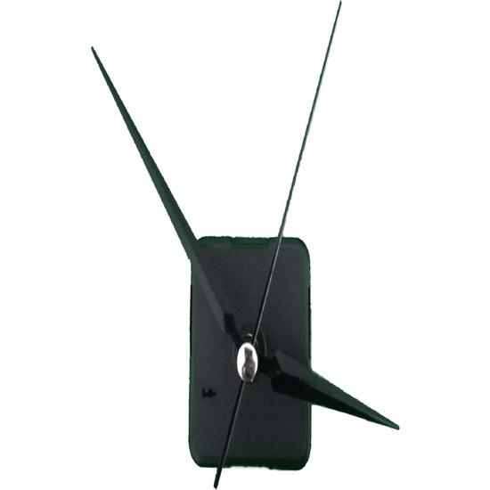 Quartz Akar Sessiz Duvar Saati Mekanizması 22 mm ve Seti (Akrep - Yelkovan - Saniye) Askısız