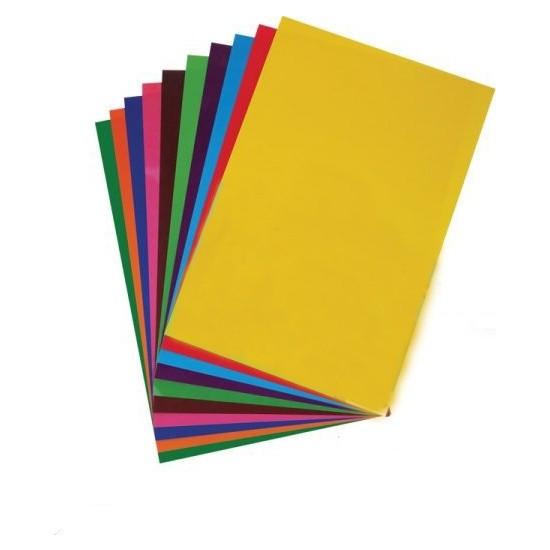 Daphne Renkli Fon Kartonu 22 x 34 cm 10'lu