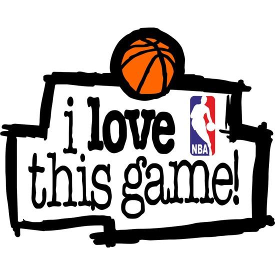 Sticker Fabrikası Basketbol I Love This Game Sticker 00046