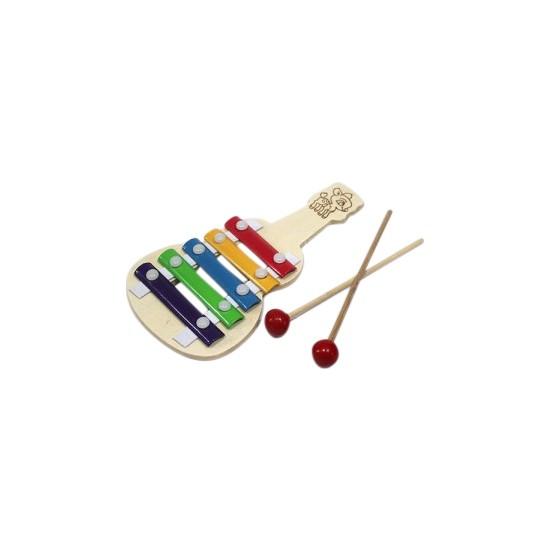 Original Buotique 5 Sesli Ahşap Eğitici Öğretici Ksilofon