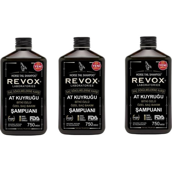 Revox At Kuyruğu Şampuanı 750 ml x 3 Adet