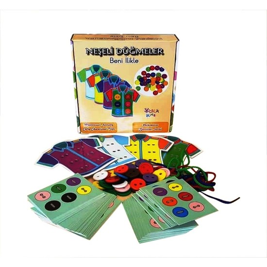Yuka Kids Neşeli Düğmeler Beni Ilikle Oyun Seti