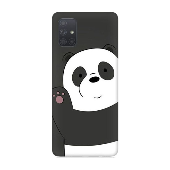 Teknomeg Samsung Galaxy A51 Sevimli Panda Desenli Tasarım Silikon Kılıf