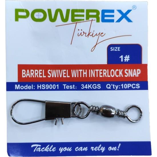 Powerex HS9001 1 No. Paketli Klipsli Fırdöndü 10'lu Paket