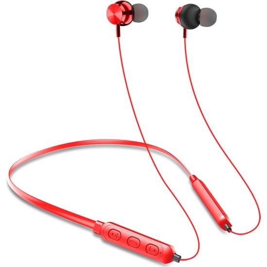 Swhy Bluetooth Kulaklık 5.0 Stereo Manyetik Kablosuz Spor Kulaklık