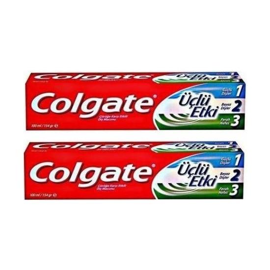 Colgate Üçlü Etki Diş Macunu 2'li Paket 100 ml