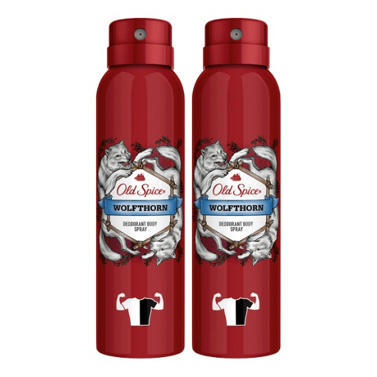 Old Spice Sprey Deodorant Wolfthorn 2'li 150 ml
