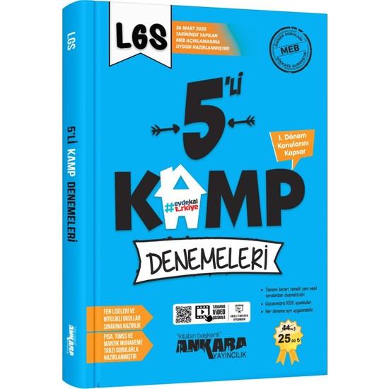 Ankara Yayıncılık 8.sınıf LGS 1. Dönem 5'li Kamp Denemeleri - 2020