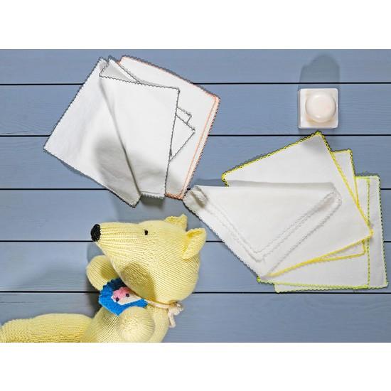 Englısh Home Cotton Pamuk 10'lu Bebe Ağız Silme Bezi 20 x 20 cm Krem