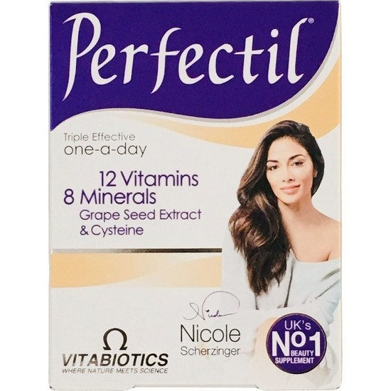 Perfectil Saç Tırnak ve Cilt İçin Vitamin & Mineral 30 Tablet (1 Kutu)