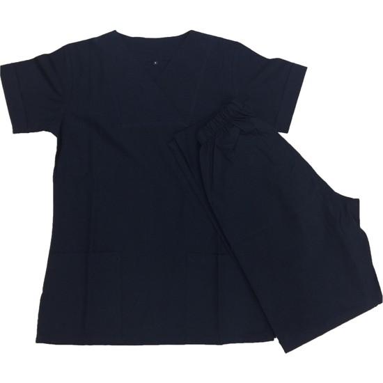 Palmiye Üniforma Siyah Alpaka Hemşire Forması
