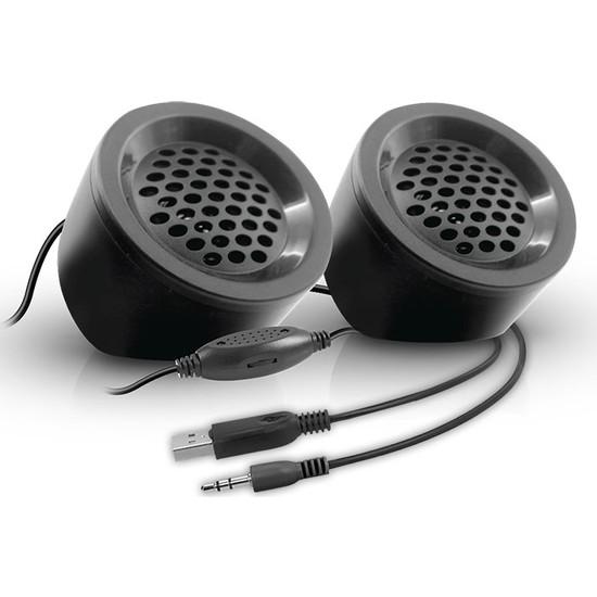 Snopy SN-03A 2.0 Siyah 2Wx2 USB Mini Multimedia Speaker