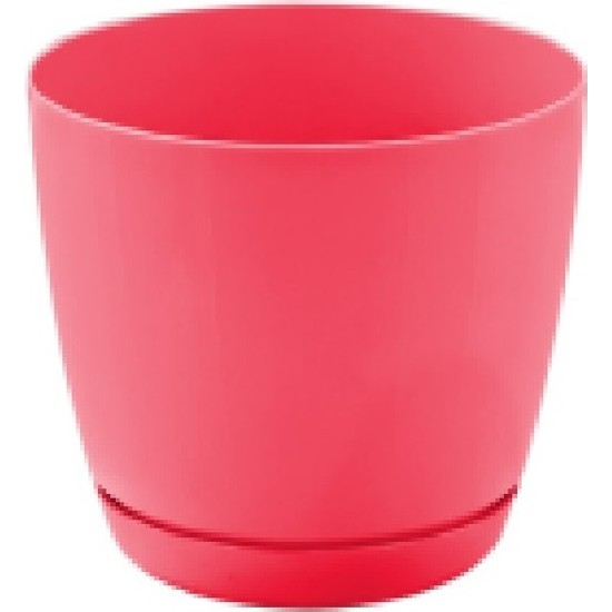 Favilla Floris Saksı Tabaklı 16 cm,2,2 Lt Kırmızı