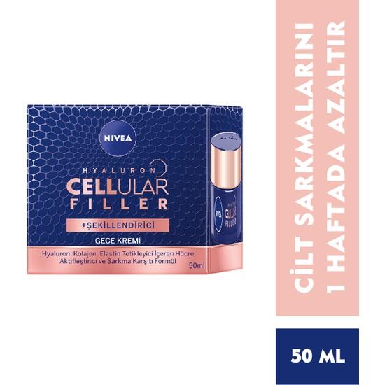 Nivea Hyaluron Cellular Filler + Şekillendirici Yaşlanma Karşıtı Gece Kremi 50 ml