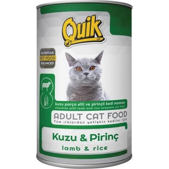 Quik Kuzu ve Pirinçli Kedi Konservesi 415 gr 24'lü