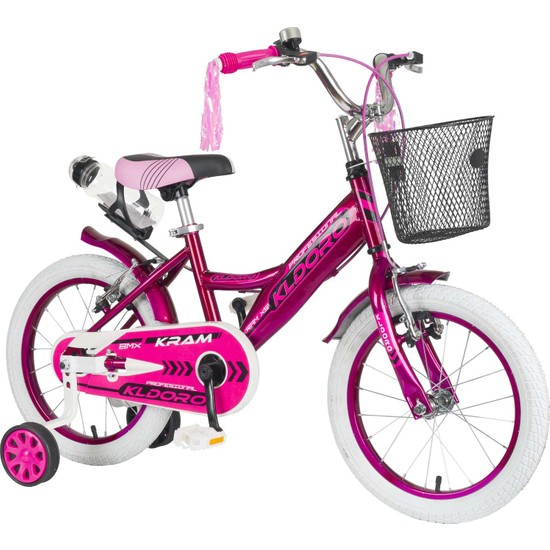 Kldoro KD-015 Beyaz Lastik 16 Jant Bisiklet Çocuk Bisikleti