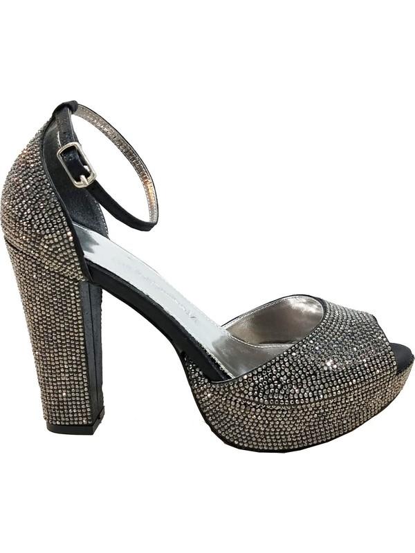 Smilee 4677 Platform Topuklu Kadın Abiye Ayakkabı